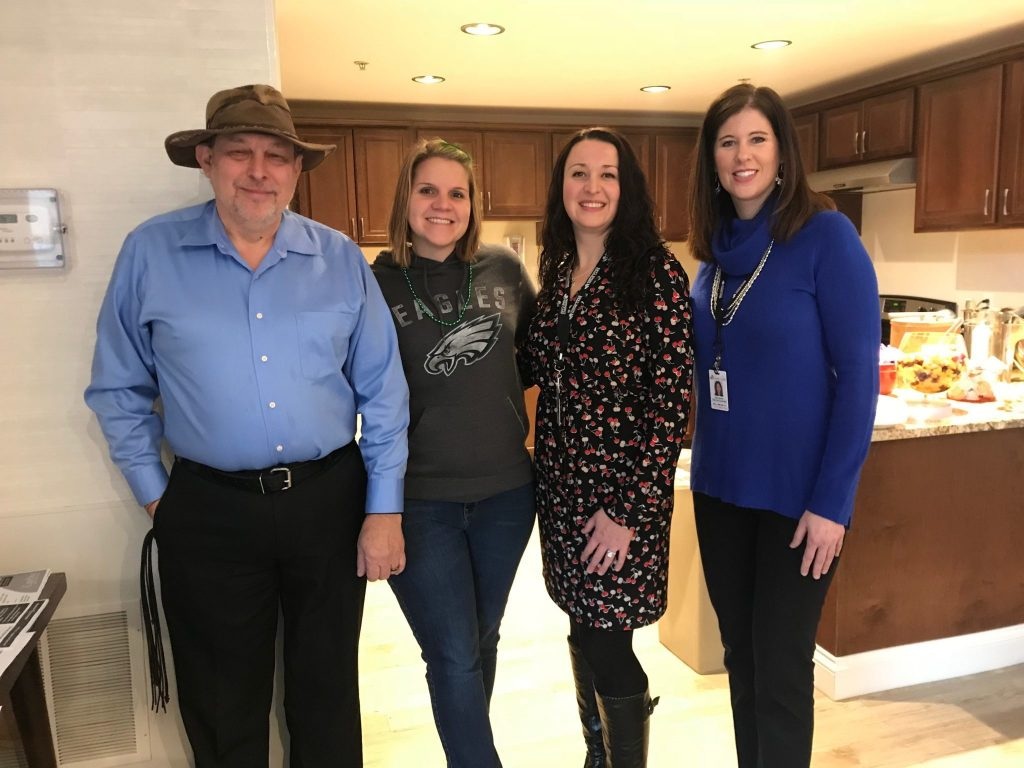 from left, Dr Van Beveren, Jen Ennis-Marketing Director of CareOne At Hamilton, Terri Sajkowski-RN, Owner of Independence Home Care & Kelly Aylward-Community Liaison for Independence Home Care.